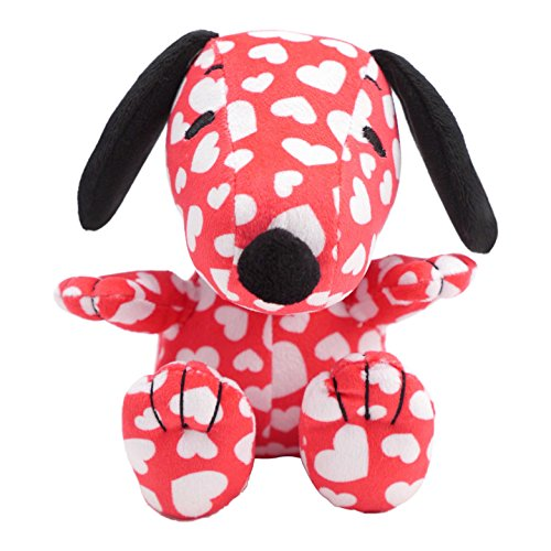 (Hallmark Plush Snoopy in All-Over Heart Pattern)