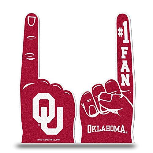 Rico Industries NCAA Oklahoma Sooners #1 Fan Flat Foam Finger