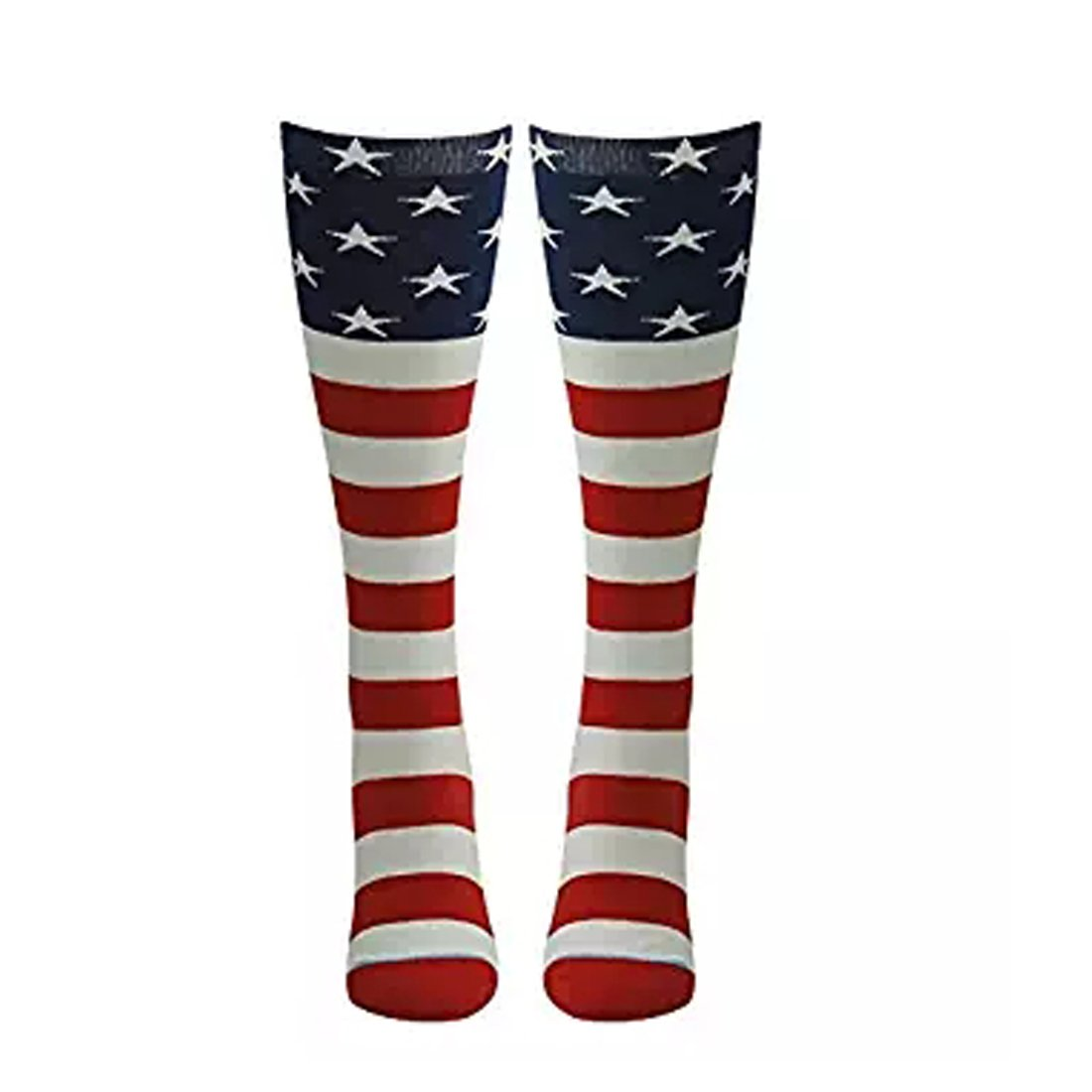 Zoopwon Crazy Funny Chicken Legs/US Flag Boots Knee/Thigh High Novelty Socks Funny Gag Gifts