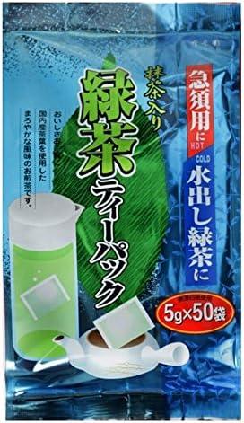 寿老園 抹茶入り緑茶ティーパック 5g×50P