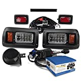 club car head lights - NEW RecPro CLUB CAR DS GOLF CART DELUXE STREET LEGAL ALL LED Light Kit 1993-UP