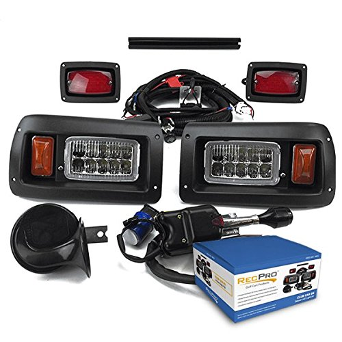 NEW RecPro CLUB CAR DS GOLF CART DELUXE STREET LEGAL ALL LED Light Kit - Signal Street Kit Led
