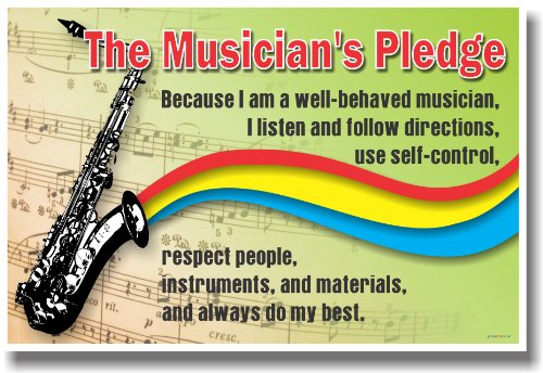 The Musician's Pledge - Music Poster ()