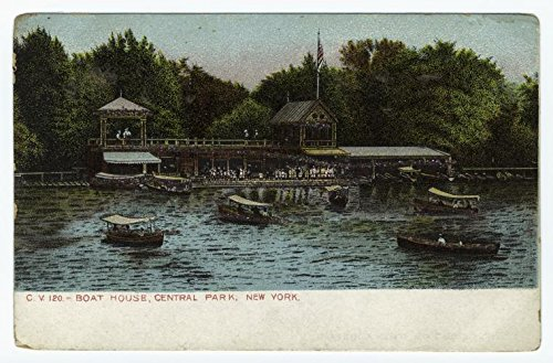 (Historic Pictoric Print | Boat House, Central Park, New York, 1901 | Vintage Wall Art | 24in x 16in)