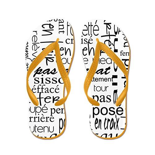 CafePress Ballet Is Hard terminology - Flip Flops, Funny Thong Sandals, Beach Sandals Orange