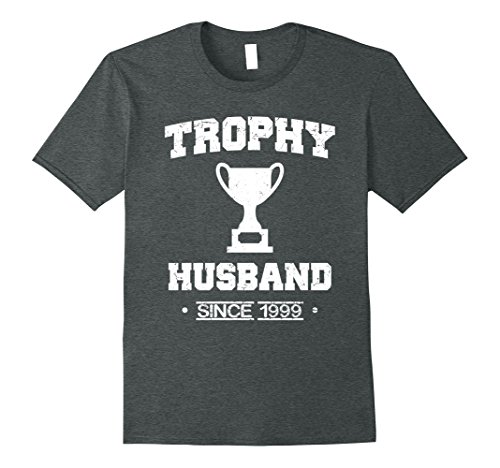 Mens Trophy Husband Since 1999 T-Shirt Large Dark Heather (Tee 1999)