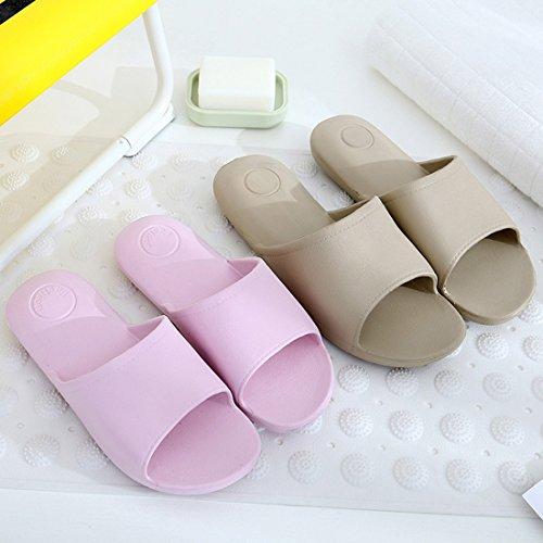 Jiyaru Womens Non-Slip Slippers Mens Bath Sandals Indoor House Shoes Purple 22EGo7