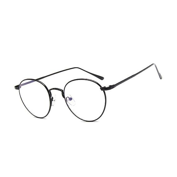 54ceb76992 vintage redondas Transparentes gafas Nerd retro para mujeres Unisexo  montura de metal gafas: Amazon.es: Ropa y accesorios