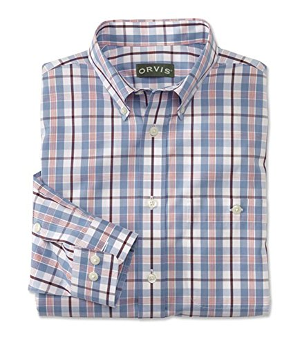 ton Wrinkle-Free Pinpoint Oxford Shirt/Tall, Cadet Blue, Large (Wrinkle Free Pure Cotton Shirt)