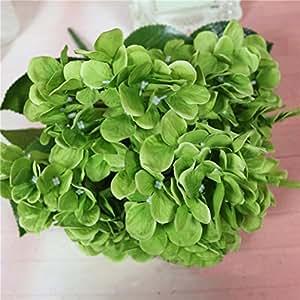 jamicy® Flores artificiales fausses ramo en tejido decoración hogar boda, verde