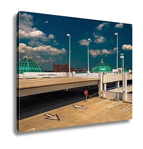 Ashley Canvas, Parking Garage And Domes On The Roof Of Towson Town Center Mary, Kitchen Bedroom Dining Living Room Art, 24x30, - Mall Maryland Towson