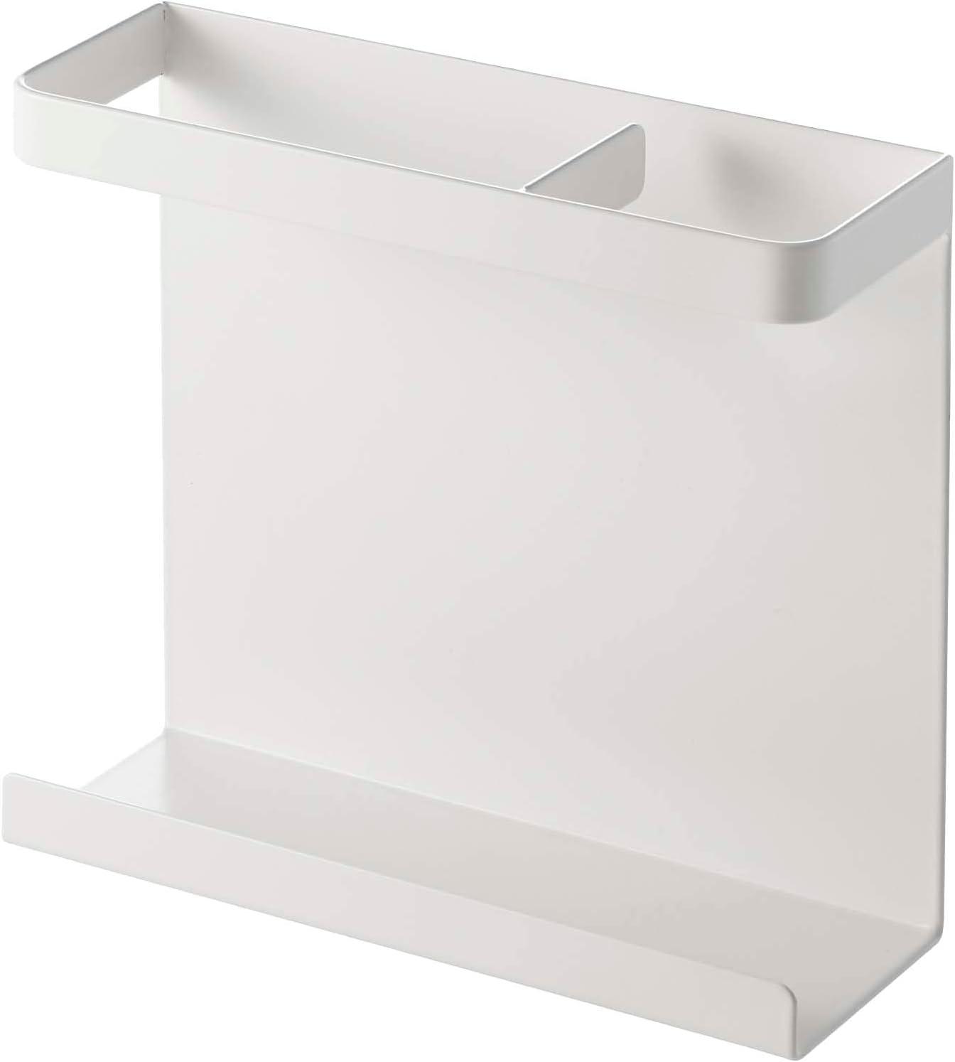 YAMAZAKI home Wrap Holder-Kitchen Storage, Magnetic Organizer, One Size, White