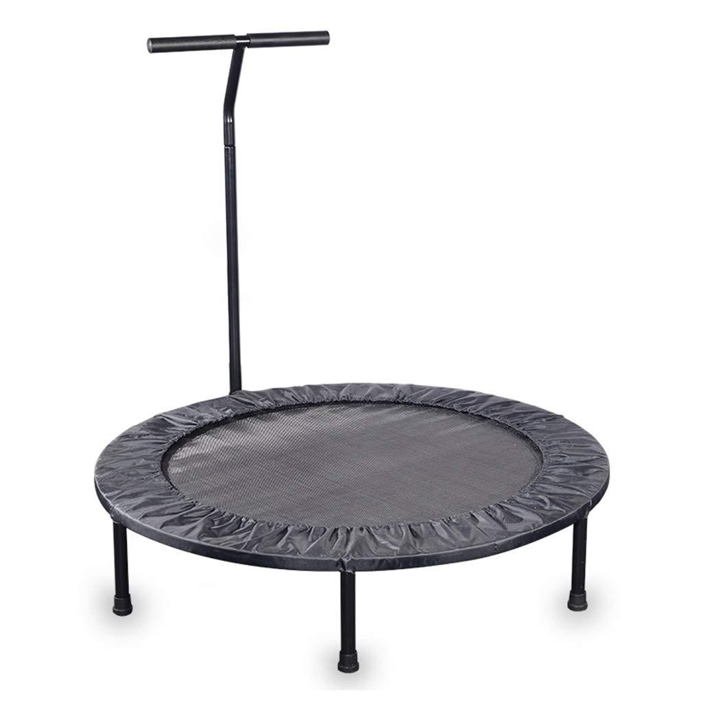 Gartentrampoline Trampolin für Heimgymnastik Mini-Trampolin Kindertrampolin mit Armlehnen rundes Sprungbett für Innen Bungee-Springen für Erwachsene, Tragkraft von etwa 120 kg Trampoline