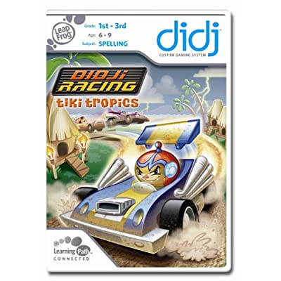 LeapFrog Didj Custom Learning Game Didj Racing Tiki Tropics: Toys & Games