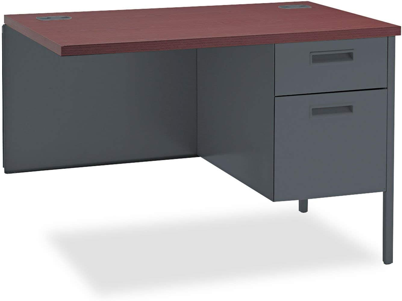 Mahogany//Charcoal 10500 Series Single Pedestal Desk Return Finish