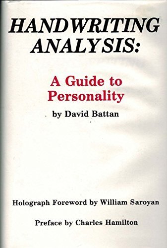 Handwriting Analysis: A Guide to Personality by David Battan (1984-01-03) by Padre Productions