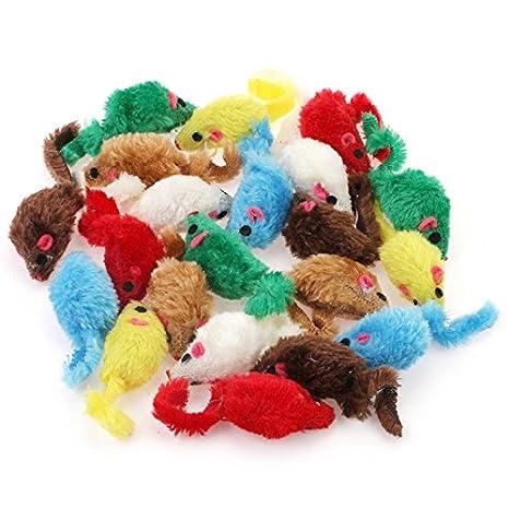 24 Piezas Rata Ratón Juguete para Gato Perro ,Color Aleatorio: Amazon.es: Productos para mascotas
