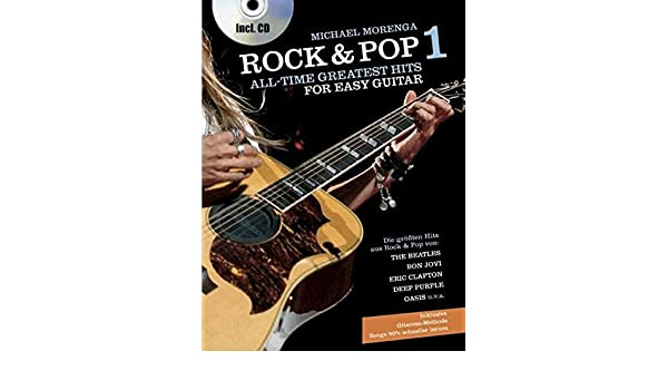 Rock And Pop All Time Greatest Hits For Easy Guitar: Amazon.es ...