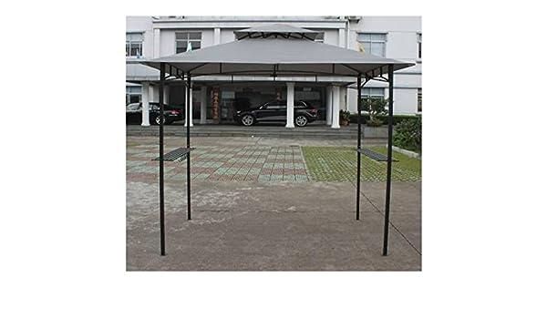 Carpa barbacoa metros 2, 4 x 1, 5 ignífugo gris antracita: Amazon.es: Jardín
