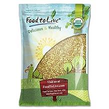 Food To Live Certified Organic Buckwheat Groats (Raw, Hulled, Non-GMO, Bulk) (10 Pounds)