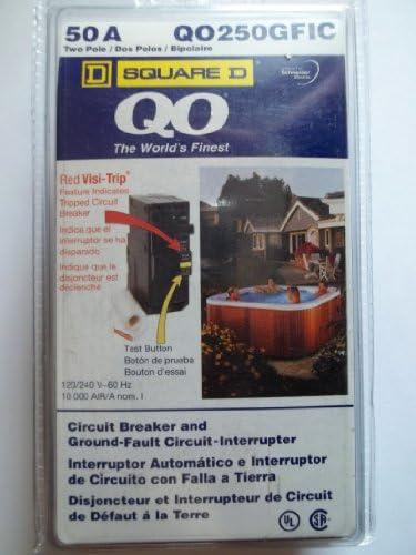 SCHNEIDER ELECTRIC Miniature Circuit Breaker 120 240-Volt 50-Amp QO250GFIC Sw Fused Hd 100A Recep No Labels View