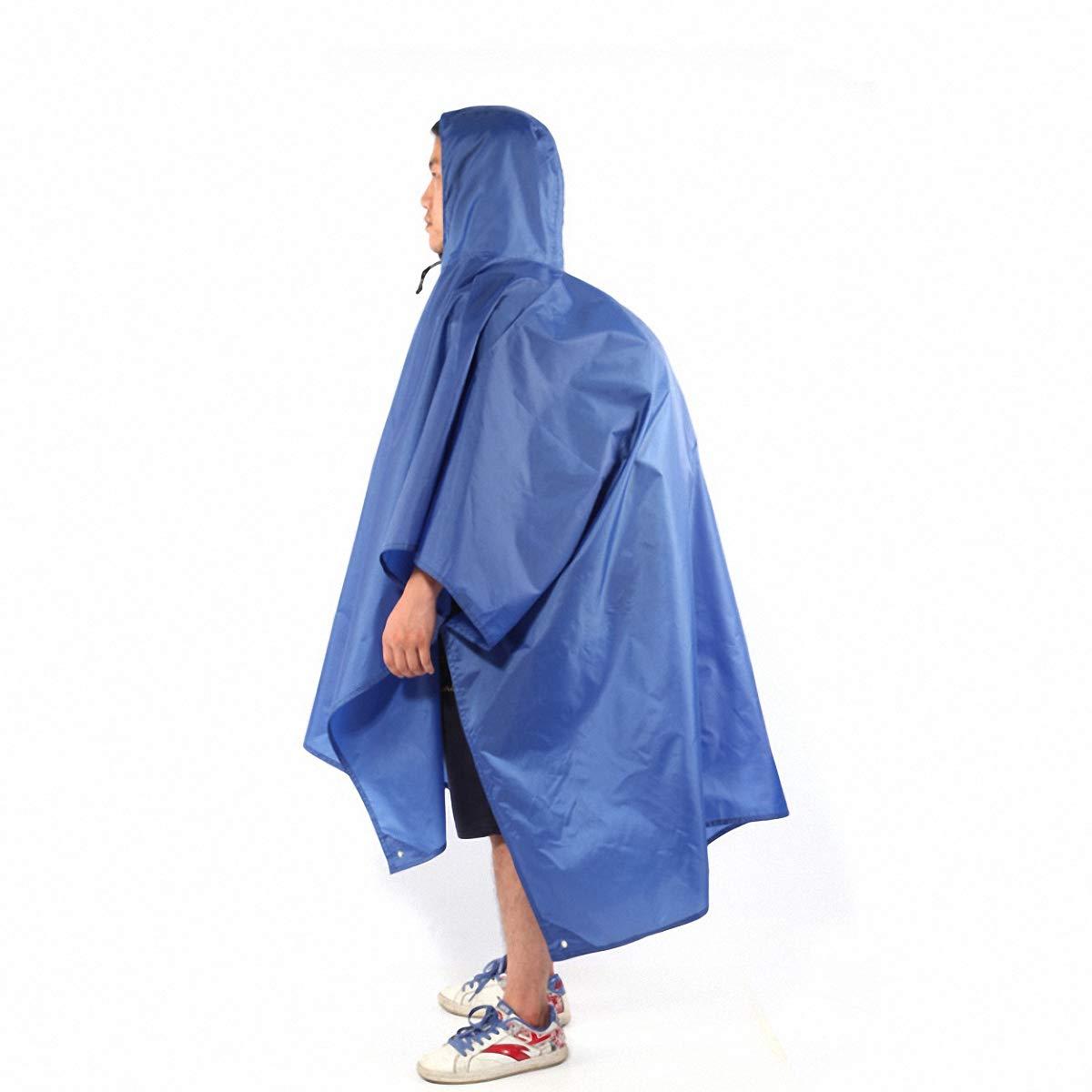 BDFA Regenmantel Regenmantel - Multifunktionaler Regenponcho, Sonnenschutzplane, Bodenmatte Für Outdoor-Aktivitäten