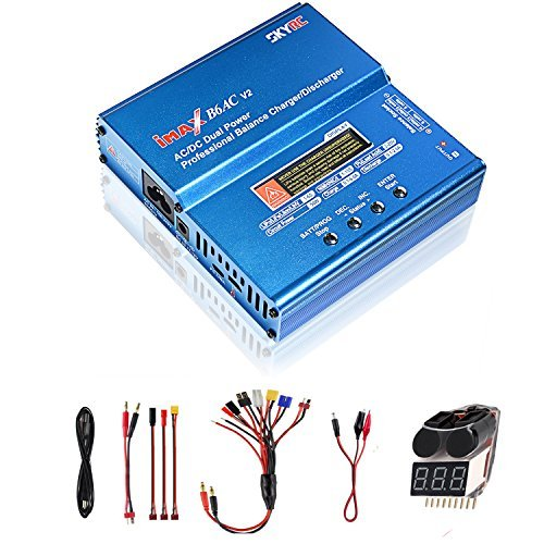 (COOLWAS Genuine SKYRC iMAX B6AC V2 AC/DC Dual Power Professional LiPo Battery Balance Charger/Discharger for LiPo,LiHV,LiIon,Life,NiCd,NiMH,Pb (B6AC V2))