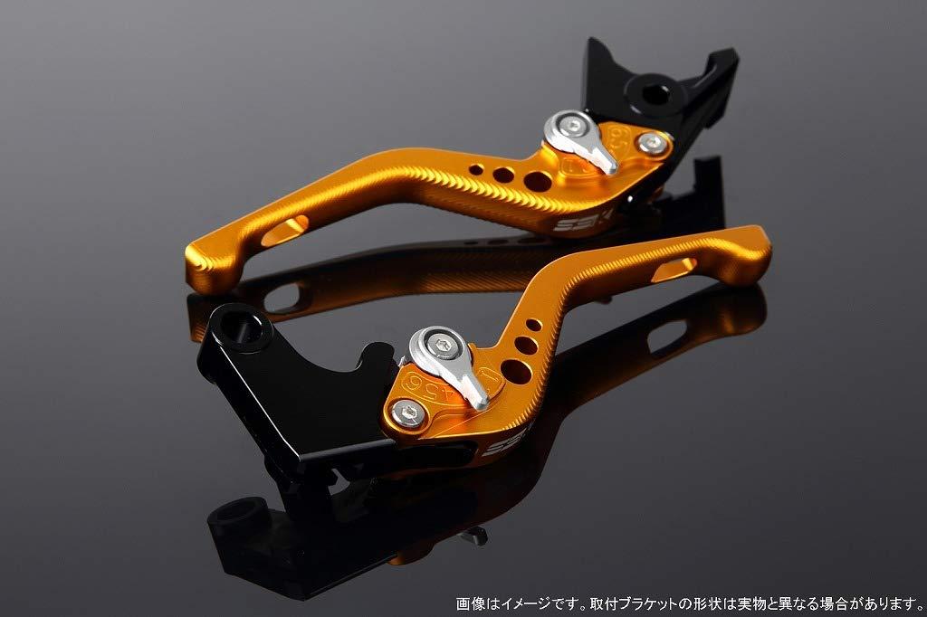SSK アジャストレバー 3Dショート レバー本体カラー:マットゴールド アジャスターカラー:マットシルバー CBF1000 2010-2013 CB1100 SC65 2013- CB1100EX LVFM007GD-SR B07MX961MJ