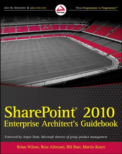 [PDF] SharePoint 2010 Enterprise Architect's Guidebook Free Download | Publisher : Wrox | Category : Computers & Internet | ISBN 10 : 0470643196 | ISBN 13 : 9780470643198