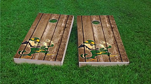 Notre Game Dame - Tailgate Pro's Notre Dame Fighting Irish Distressed Cornhole Boards, ACA Corn Hole Set, Comes with 2 Boards and 8 Corn Filled Bags