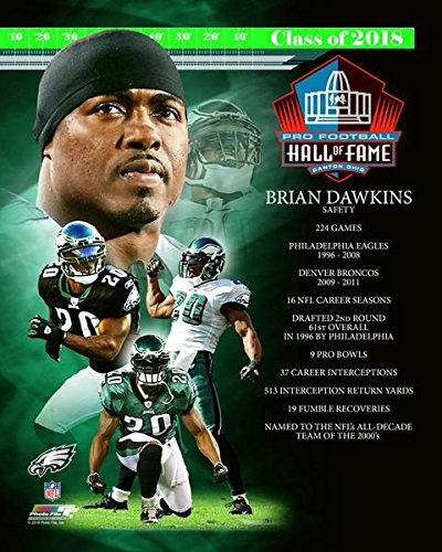 hot sale online cd240 baa38 Amazon.com: Eagles Brian Dawkins Hall of Fame 8