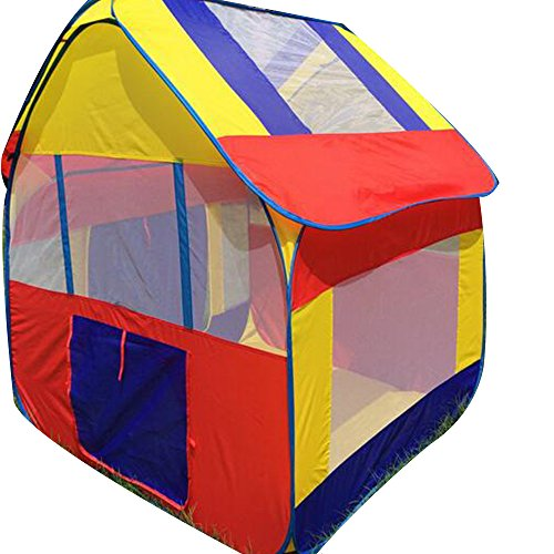Foursquare House - 1.3m Height Children Four-square House Tent For Kids Game Playhouse City House Play Tent