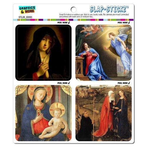 Graphics and More Virgin Mary Paintings Religious Christian Slap-STICKZ(TM) Automotive Car Window Locker Bumper Stickers
