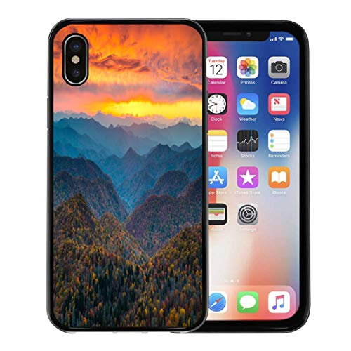 Emvency iPhone case for iPhone X case North Carolina Blue Ridge Parkway Mountains Sunset Scenic Landscape Near Asheville Nc During The Autumn for iPhone x Covers case Protective Case -