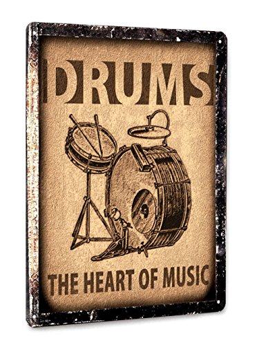 Drums set Metal Sign / Music Studio art / retro vintage style wall decor art 001