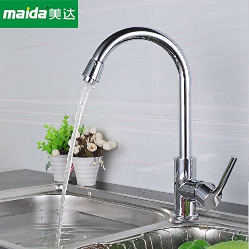 NewBorn Faucet Wasserhähne Warmes und Kaltes Wasser Größe Qualität Küche Leitungswasser voll Kupfer Küche Wasser Einzigen Griff Kalte und Warme Gerichte Töpfe Tippen