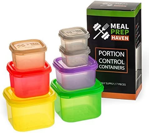 Meal Prep Haven (7 Piece) Portion Control Containers For Weight Loss Meal Prep Containers Reusable