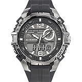 All Blacks - 680240 - Montre Homme - Quartz Analogique - Digital - Cadran Noir - Bracelet Plastique Noir