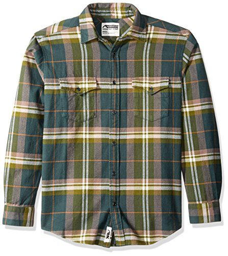 Mountain Khakis Men's Teton Flannel Shirt, Wintergreen, X-Large