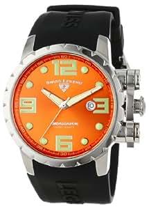 Swiss Legend Men's 30021-06 Ambassador Orange Dial Black Silicone Watch