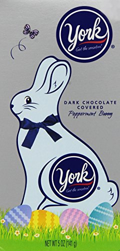 York Dark Chocolate Covered Peppermint Bunny, 5-Ounce (Chocolate Covered Peppermint Patties)