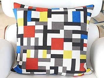 Amazon.com: Mondrian- – Funda de almohada – Composición Con ...