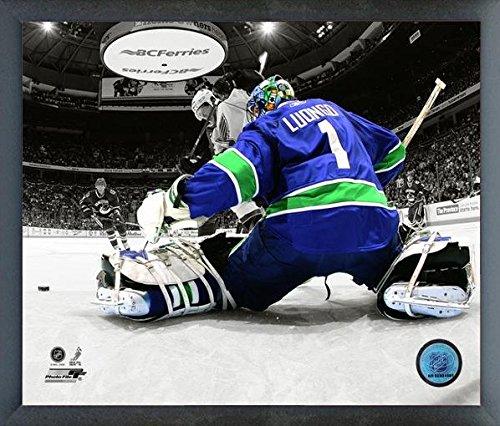 Vancouver Canucks Roberto Luongo Framed - Roberto Luongo Vancouver Canucks NHL Spotlight Action Photo (Size: 12