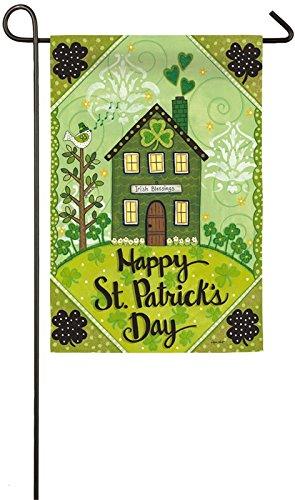 Patricks St Flags Day (Evergreen St. Patrick's Day Irish Blessings Garden Flag)