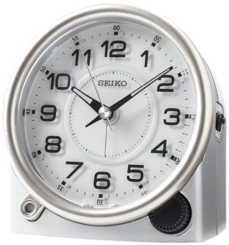 Clock Silver-Tone Metallic Case ()