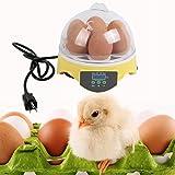 7 Egg Incubator, Genuine store Mini Digital Automatic Incubator Chicken Duck Egg Incubator Poultry Hatcher Turning Temperature Control - 30 W, 50HZ-60HZ