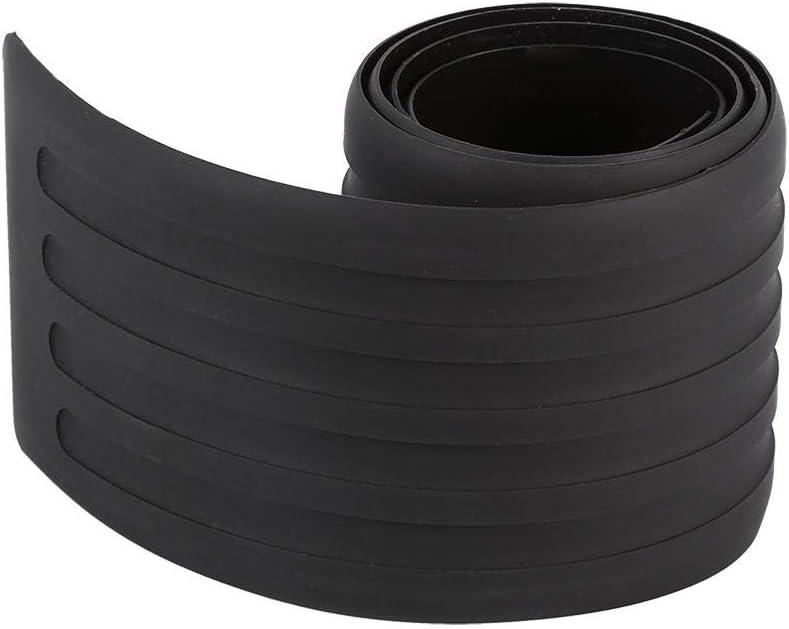 Akozon Rubber Rear Guard Bumper New Door Guard Bumper Trunk Protector Trim Cover Protective Strip Fit for Most Cars Black
