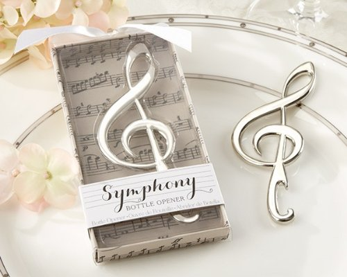 Symphony' Chrome Music Note Bottle Opener - Total 96 items by Kate Aspen (Image #1)