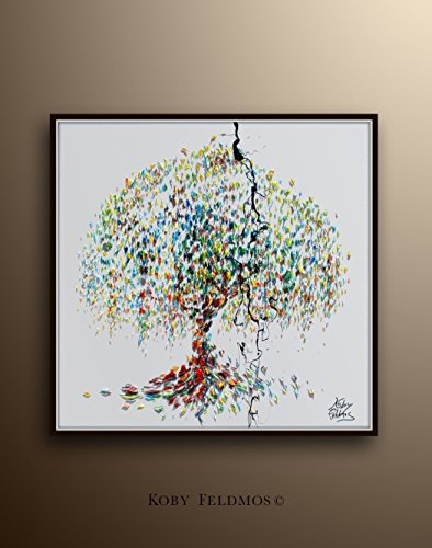 Tree painting - willow tree wall art - cute willow tree wall decor