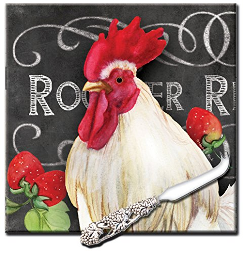 rooster cheese board - 1